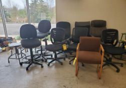 LOT OF ASSORTED OFFICE CHAIRS ***LOCATED AT 12850 DARICE PARKWAY, STRONGSVILLE, OH***
