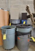 LOT OF RUBBERMAID GARBAGE CANS ***LOCATED AT 12850 DARICE PARKWAY, STRONGSVILLE, OH***
