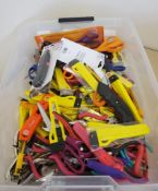 LOT OF ASSORTED SCISSORS, CRAFT PLIERS, AND EXACTO KNIVES ***LOCATED AT 12850 DARICE PARKWAY,