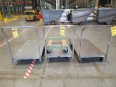 (3) ROLLING METAL MATERIAL CARTS ***LOCATED AT 12850 DARICE PARKWAY, STRONGSVILLE, OH***