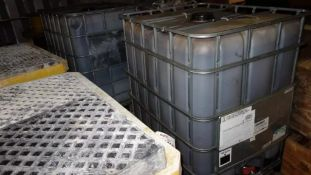 LOT OF 2 330 GALLON TANKS OF COLOR GUARD 2 DEEP FOREST BROWN MULCH DYE