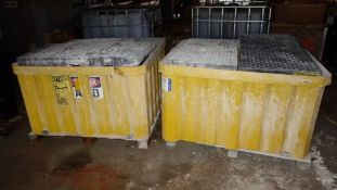 LOT OF 2 CHEMICAL SPILL PALLETS FOR 330 GALLON TOTE