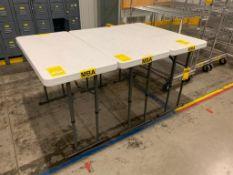 (3) FOLDING TABLES, 48'' X 24''