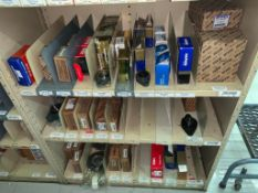 SHELVING WITH CONTENTS: BELTS, BEARINGS