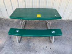 (6) FOLDING PICNIC TABLES: (5) 56'' X 30'', (1) 72'' X 30'', (1) TRASH CAN