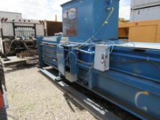 MAREN HORIZONTAL AUTOMATIC HYDRAULIC BALER, TOP LOADING MOUNTED ON STEEL SLED, 25-HP