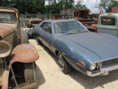 1972 AME JAVELIN, VIN# A2C797H268139, V8 ENGINE (DOES NOT RUN, HAS SALVAGE TITLE)