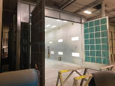 2009 GLOBAL FINISHING SYSTEMS 55' X 20' X 16' DRIVE-THROUGH CROSS-DRAFT PAINT BOOTH, MODEL CDG-