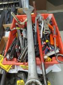 CONTAINERS OF ASSORTED HAND TOOLS