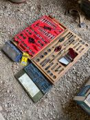 (4) ASSORTED FULL TAP AND DIE TOOL SETS