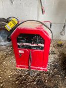 LINCOLN AC/DC ARC WELDER, SINGLE PHASE, 230V, MODEL AC/DC225/125, W/ 25' LEADS, ASSORTED WELDING