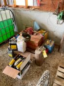 ASSORTED GAS AND OIL CANS