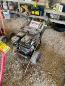SIMPSON PRESSURE WASHER, HONDA GAS ENGINE, MODEL GX 270, 4,000PSI, W/ HOSE AND SPRAY NOZZLE