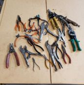 ASSORTED SNIPPERS & VISE GRIPS
