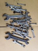 ASSORTED OPEN END WRENCHES