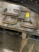 (3) C-CLAMPS, UP TO 13'' & 6'' THROAT
