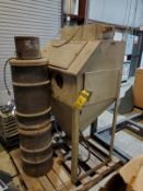 TRINCO DRY BLAST CABINET, MODEL BP, WITH CANISTER