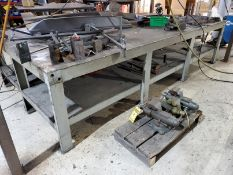 11' X 3' X 1/4'' HD STEEL LAYOUT TABLE, 31'' TOP HEIGHT