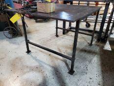 60'' X 48'' X 3/4'' STEEL WELDING TABLE
