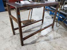 55'' X 23'' X 1/2'' STEEL WELDING TABLE