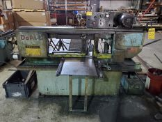 DO-ALL HORIZONTAL HYDRAULIC BAND SAW, MODEL C-916/M, S/N 501-93205, 159'' BAND LENGTH, MATERIAL CLAM