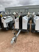 2012 ALLMAND 8 KW TOWABLE LIGHT TOWER, KUBOTA DIESEL ENGINE, UNIT# LT-2336PR0212