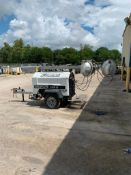 2012 ALLMAND 8 KW TOWABLE LIGHT TOWER, UNIT# LT-1901PRO212, KUBOTA DIESEL ENGINE, 12,419HOURS INDIC