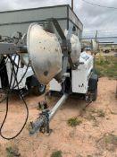 2012 ALLMAND 8 KW TOWABLE LIGHT TOWER, KUBOTA DIESEL ENGINE, UNIT# LT-1579PR0212, 10,873 HOURS INDIC