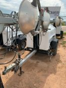 2012 ALLMAND 8 KW TOWABLE LIGHT TOWER, KUBOTA DIESEL ENGINE, UNIT# LT-1194PR0212, 13,466 HOURS INDIC