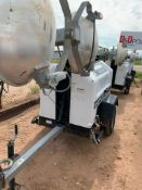 2012 ALLMAND 8 KW TOWABLE LIGHT TOWER, KUBOTA DIESEL ENGINE, UNIT# LT-2289PR0212