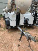 2012 ALLMAND 8 KW TOWABLE LIGHT TOWER, KUBOTA DIESEL ENGINE, UNIT# LT-2499PR0212