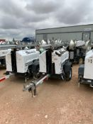 2012 ALLMAND 8 KW TOWABLE LIGHT TOWER, KUBOTA DIESEL ENGINE, UNIT# LT-2496PR0212, 8,852 HOURS INDICA