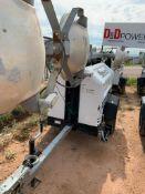 2012 ALLMAND 8 KW TOWABLE LIGHT TOWER, KUBOTA DIESEL ENGINE, UNIT# LT-2480PR0212