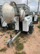 2012 ALLMAND 8 KW TOWABLE LIGHT TOWER, KUBOTA DIESEL ENGINE, UNIT# LT-2288PR0212, 11,178 HOURS INDIC