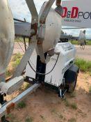 2012 ALLMAND 8 KW TOWABLE LIGHT TOWER, KUBOTA DIESEL ENGINE, UNIT# LT-1906PR0212