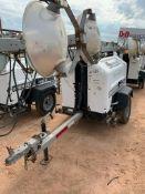 2012 ALLMAND 8 KW TOWABLE LIGHT TOWER, KUBOTA DIESEL ENGINE, UNIT# LT-2339PR0212, 14,035 HOURS INDIC