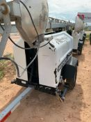 2012 ALLMAND 8 KW TOWABLE LIGHT TOWER, KUBOTA DIESEL ENGINE, UNIT# LT-287PR0212