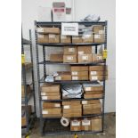 (3) RACKS & (2) BOXES OF ASSORTED SHIPPING SUPPLIES