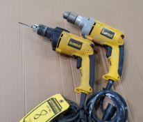 DEWALT ELECTRIC 1/2'' DRILL, MODEL DW235G, AND DEWALT ELECTRIC 1/2'' DRILL, MODEL DW511