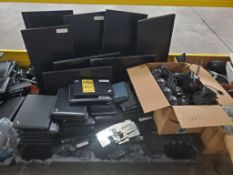 COMPUTER PARTS; MONITORS, THINK PADS, SCANNERS, ETC.