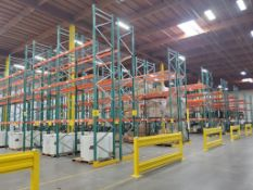 (140X) SECTIONS OF TEARDROP PALLET RACKING; 42'' X 8' WIDE x 24' TALL, 5,000 LB. MAX. WEIGHT