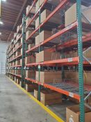 (32X) SECTIONS OF TEARDROP PALLET RACKING; 42'' DEEP X 8' WIDE x 24' TALL, 5,000 LB. MAX. WEIGHT, WI