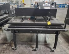 GEO-KNIGHT MAXI PRESS; 44'' X 64'' AUTOMATIC AIR/HEAT PRESSES, DUAL ZONE DRO, WITH INFEED/OUTFEED TA