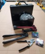 HANDHELD BANDING SET WITH CLIPS & TOOLS