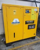 POLAR AIR ROTARY SCREW AIR COMPRESSOR; MODEL PRV060PKG3D, S/N 55185-F, 60-HP, 3-PHASE, 460-VOLTS, 14