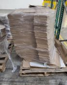 (60) APPROX. SKIDS OF SELECTION OF PRESS SHIRT CARDBOARD CUT OUTS & GENERAL CORRUGATED PRODUCT