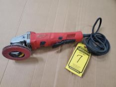 MILWAUKEE ELECTRIC 4 1/2'' GRINDER, CAT# 6142-30, S/N H40BD180904614, AND RYOBI ELECTRIC 3/8'' DRILL
