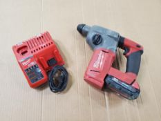 MILWAUKEE 1'' ROTARY HAMMER DILL SDS PLUS, CAT# 2712-20, S/N G17AS1734-02069, 18-VOLT, WITH BATTERY