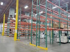 (63X) SECTIONS OF TEARDROP PALLET RACKING; 42'' DEEP X 8' WIDE x 24' TALL, 5,000 LB. MAX. WEIGHT