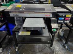 BROTHER GTX-422 GARMENT PRINTER, S/N G9931657, 14-1/2'' X 16-1/2'' TABLE, 70,807TOTAL PRINT IMPRESS